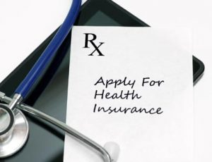 "graphic with text ""RX apply for health insurance"